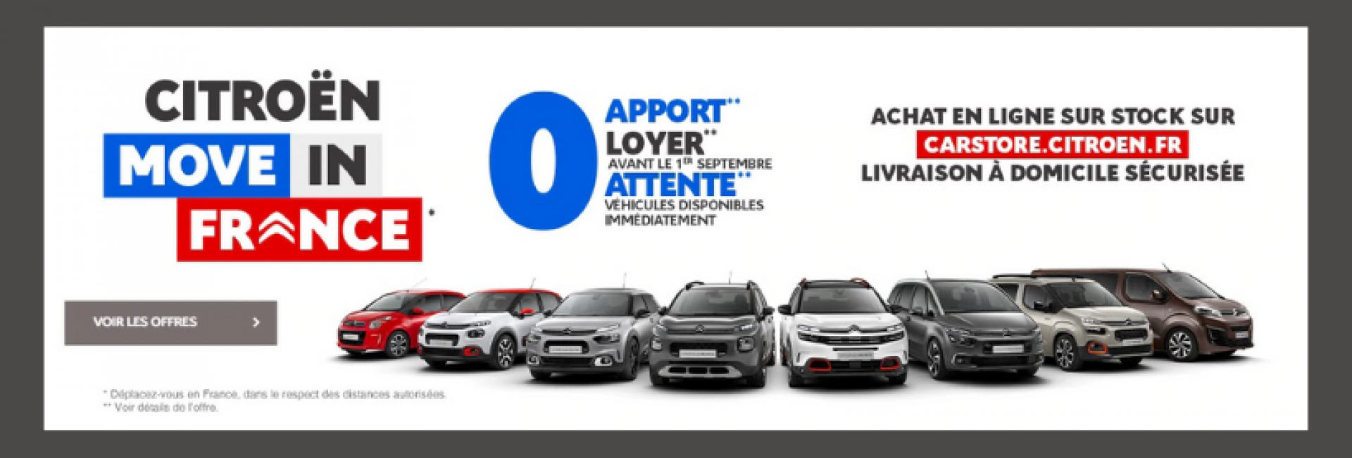 Offre 4 loyers offerts - Move in France - Citroën carstore